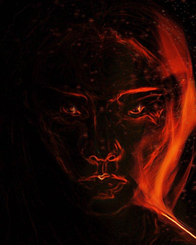 cheyenne-sabo-flames-portrait-digital-paint
