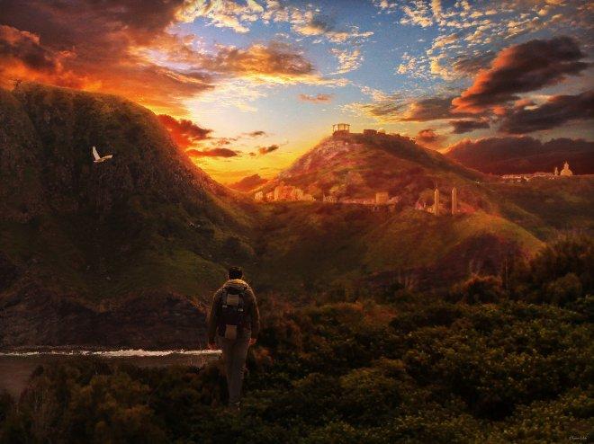 sunset-landscape-concept -digital-matte-painting